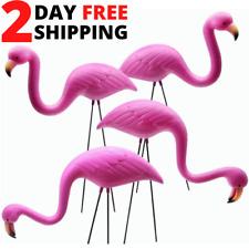 2-4Pack Plastic Pink Flamingo Yard Outdoor Lawn Garden Decor Art Ornament Statue