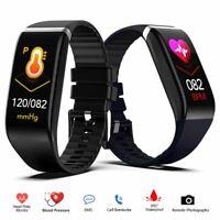 Männer Bluetooth Smartwatch Pulsmesser Sport Fitness Tracker Armband für Android