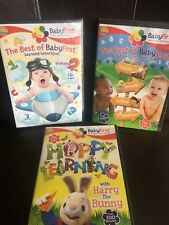 BABYFIRST - LOT OF 3 DVD - 2 ARE NEW - HARRY THE BUNNY - BEST OF - EDUCATIONAL