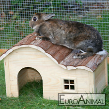 Nagerhaus Kleintierhaus zwei Größen; Kaninchenhaus Katzenhaus Nature Hasenhaus
