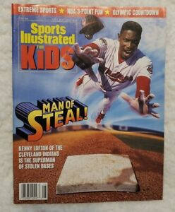 June 1996 Sports Illustrated For Kids Man Of Steal! Magazine Kenny Lofton