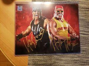 Hulk Hogan & Hollywood Hogan Signed 8x10