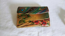 ANUSSCHKA Multicolor Handpainte Soft Leather Two Fold Wallet