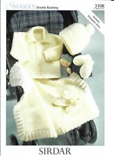 Knitting Pattern Premature Baby Jacket Hat Mittens Bootees Blanket Sirdar 3108