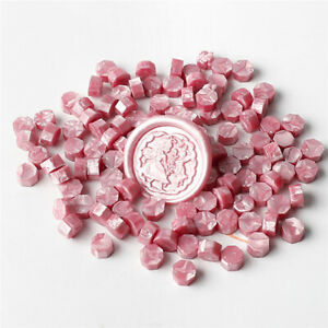 20/Pearl pink Retro Stamping Sealing Beads Wax Stamps Envelopes Party Invitation