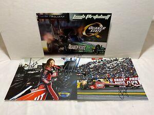 Leah Pritchett Signed Lot Of Three Photos Post Cards NHRA Drag Racing DSR