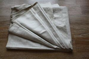 altes Rolltuch,antik Mangeltuch Leinen Mangelcloth ohne Kante,2,53 m x 0,83 m