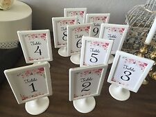 Chic ~20 ~  Double side White Framed Table Numbers/Wedding/PATY/BIRTHDAY/EVEN