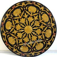 27 Inches Beautiful Design Marble Patio Table Top Round Shape Coffee Table Top