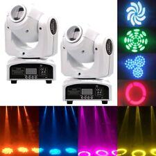 2PCS 60W Stage Lighting Spot GOBO RGBW LED Moving Head DMX Disco DJ Party Lights