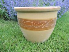 Taupe  Ceramic Glazed Garden Plant Pot 37 cm diameter (854)