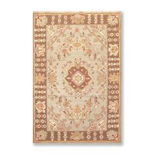 """3'10"""" x 5'10"""" Nourison Nourmak Hand Knotted 100% Wool Reversible Area Rug Mint"""