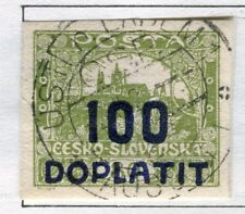 CZECHOSLOVAKIA;  1922 early DOPLATIT Postage Due issue used 100h. value