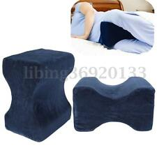 Contour Memory Foam Knee Leg Pillow Back Hip Cushion Pain Relief Therapy +Cover