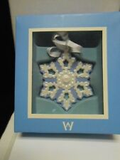 Wedgewood Blue & White Luster Snowflake - Boxed Snowflake Collection