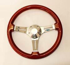 "1969 - 1993 Pontiac GTO Grand Prix Firebird Steering Wheel Wood 14"" Mahogany"