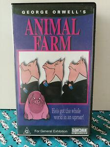 Animal Farm George Orwell VHS Classic Animated
