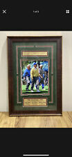 1996 MASTERS ARNOLD PALMER,JACK NICKLAUS & TIGER WOODS AUTO FRAMED PICTURE