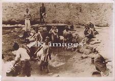 GUERRE SINO-JAPONAISE Chine Soldats Nu Bain 1930s #1