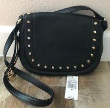 Michael Kors Hamilton Traveler Studded Large Messenger Black Leather $328