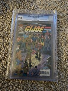 KEY ISSUE LOW PRINT RUN GI JOE LAST ISSUE #155 CGC 9.0 !! WHITE PAGES ! MINT !!