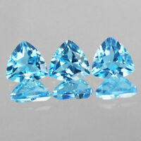3X3MM TO 8X8MM AAA NATURAL SWISS BLUE TOPAZ TRILLION CUT FACETED LOOSE GEMSTONE
