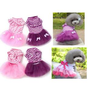 Pet Dog Small Cat Princess Dresss Lace Tutu skirt Cute Clothes Apparel Costume
