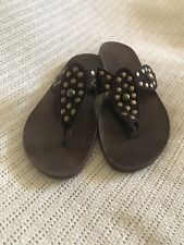 Blowfish Brown Flip Flop Women Sandals Size 8