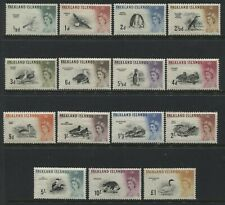 Falkland Islands QEII 1960 set to £1 mint o.g. hinged