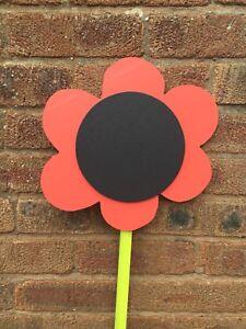 Children's Outdoor Flower Chalkboard Garden Handmade, 1 X Flower