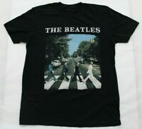 The Beatles Mens Size Large Black Official Abbey Road Logo Graphic Tee Shirt