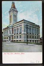 ca 1905 MARLBORO MASSACHUSETTS MA New City Hall Vintage PC
