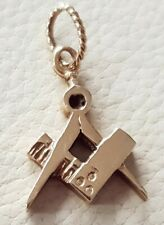 Vintage 9ct gold Masonic Pendant fully hallmarked not scrap 2.5g