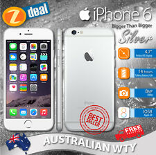 (NEW SEALED BOX) APPLE iPHONE 6 128GB 4G LTE SILVER FACTORY UNLOCKED  OZ WTY