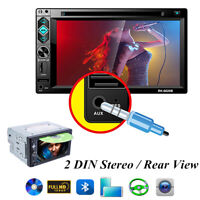 Car Bluetooth GPS Navigation Radio DVD Player 2 DIN Stereo Touch Screen 6.2Inch