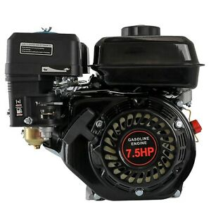 7.5HP 212cc OHV Horizontal Shaft Gas Engine Motor Lawnmower Snowblower MiniBike