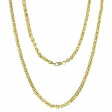 """14K Yellow Gold Solid 26"""" Square Byzantine Chain Necklace 47.8 grams 3.5 mm"""