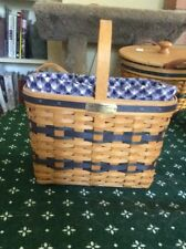 J.W. Collection Longaberger Miniature Bread And Milk Basket 2000
