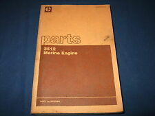 CAT CATERPILLAR 3512 MARINE ENGINE PARTS BOOK MANUAL S/N 50Y1-646