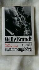 Willy brandt,was zusammen gehört,reden zu deutschland,lesen,buch,bundeskanzler