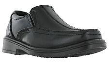EEUU Latón Negro Formal Charol Vestido De Escuela Para Niños Zapatos sin cierres