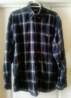 Falcon Bay Men's Plaid Blue Flannel Long Sleeve Shirt size Medium 15/15