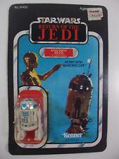 VINTAGE 1983 STAR WARS ROTJ ARTOO-DETOO R2-D2 W/ SENSORSCOPE 65 BACK MOC UP