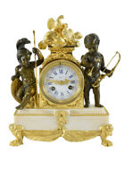 AMOUR GUERRIER. Kaminuhr clock bronze horloge antique uhren cartel pendule