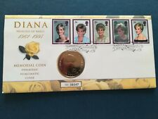 FIrst day cover GB 1999 with same date £5 coin