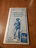 Vintage 1958 Official United States Savings Stamp Album With 32 10-Cent Stamps