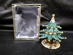 RUCINNI  Christmas Tree  Jeweled Trinket Box  -  In Original Box
