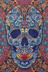 "3D Tapestry ""Ornate Skull"" 30 x 45  - FREE SHIPPING"
