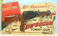 Vintage 1950's Toy Louis Marx The Enforcer Tommy Gun 50 Shot Repeater USA