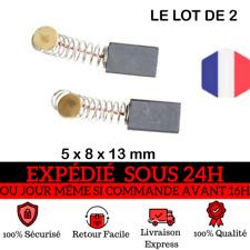 Lot de 2 Balais de Charbon 13.5 x 8 x 5 mm Moteur perceuse, outillage electropor